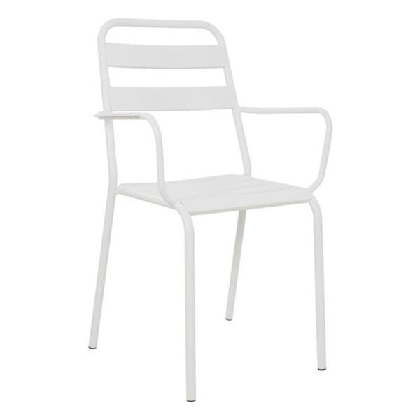 Бяло метално кресло Джейсън