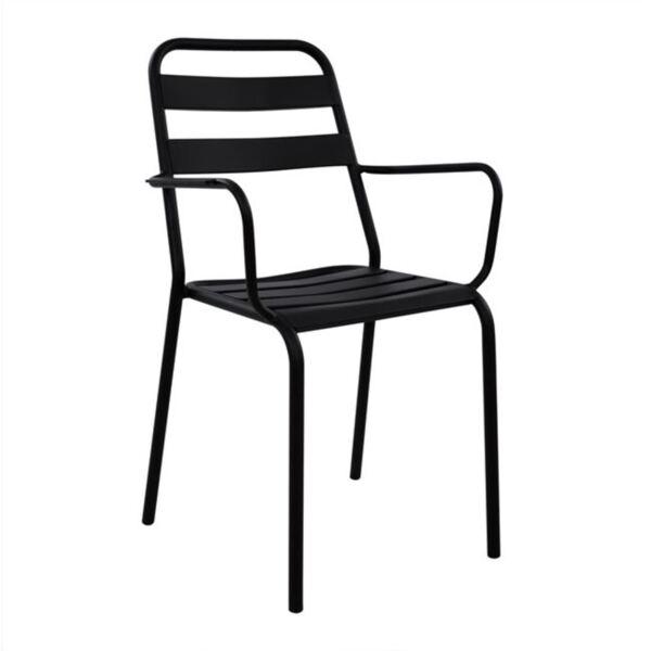 Черно метално кресло Джейсън