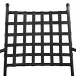 Метален стол с подлакътници в черен цвят