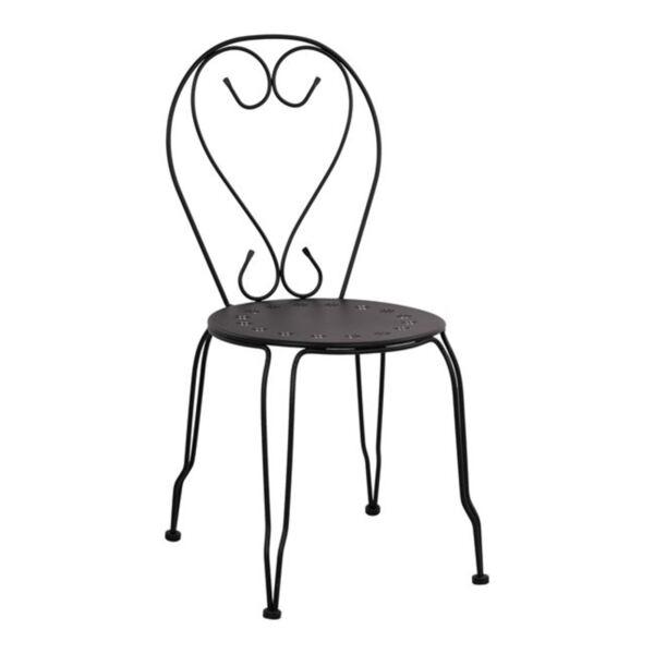 Метален стол Amore Черно