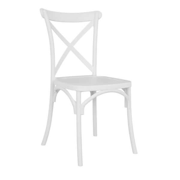 Бял полипропиленов стол Anji