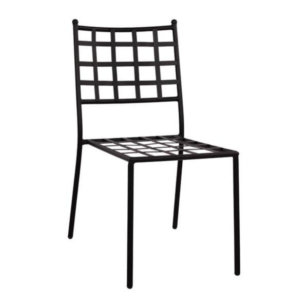 Метален стол в черен цвят