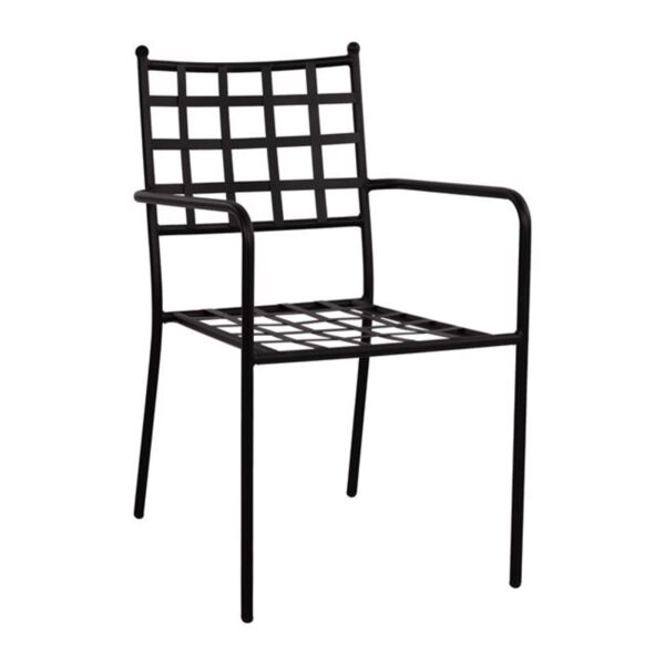 Метално черно кресло