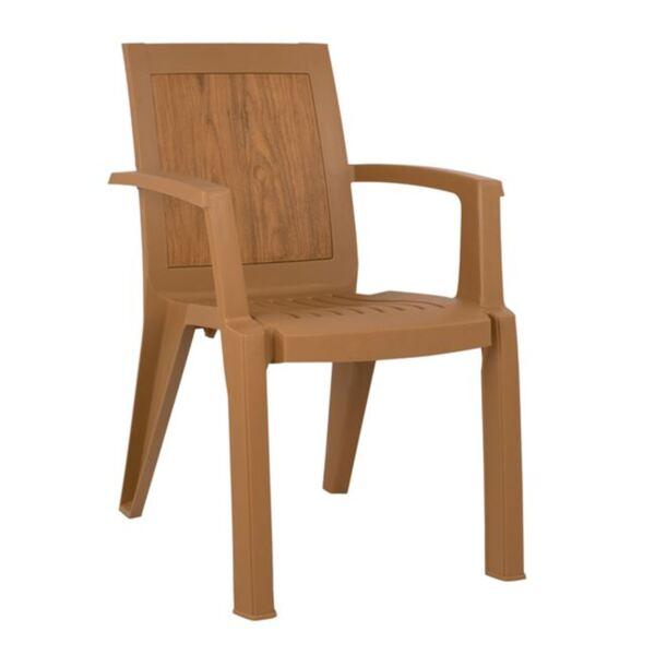 Кресло от полипропилен в бежов цвят