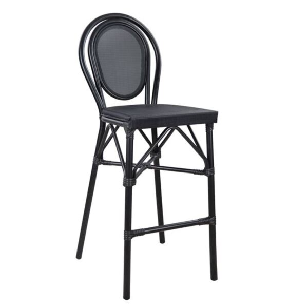 Алуминиев стол Bamboo с черен с текстил