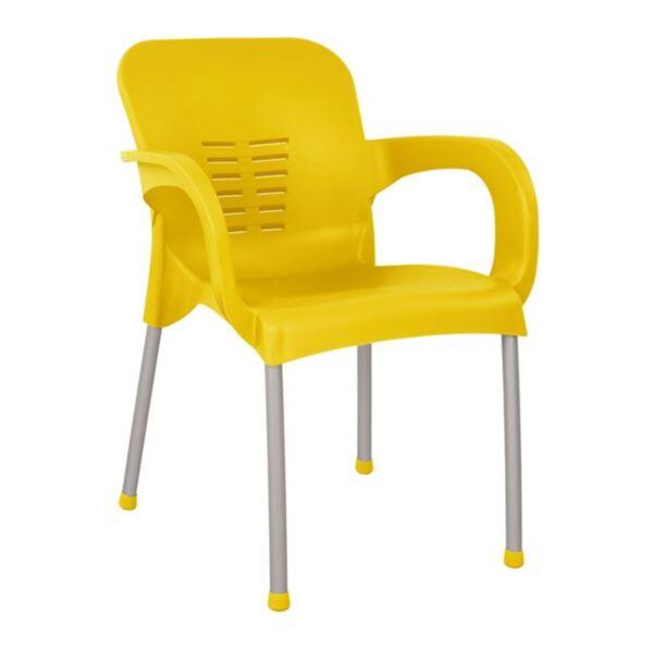 Алуминиев фотьойл в жълто с алуминиев крак