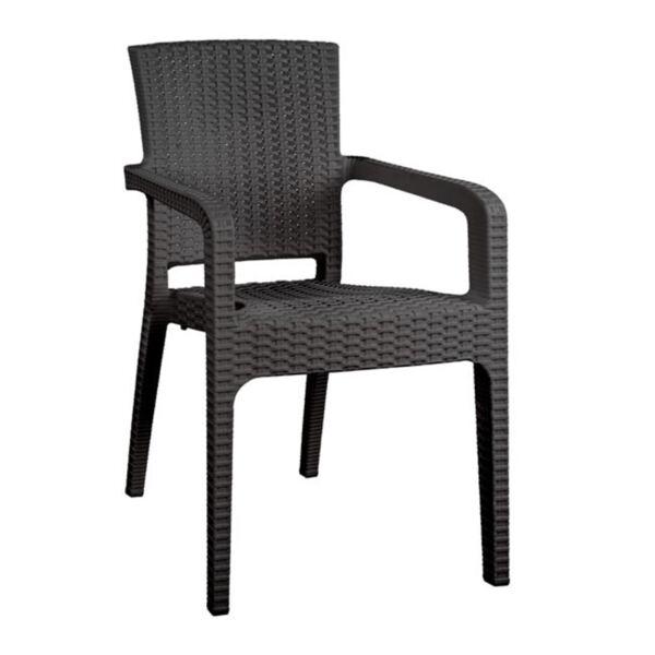 Полипропиленово кресло от сив ратан