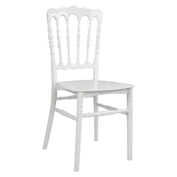 Полипропиленов стол Наполеон -Бял