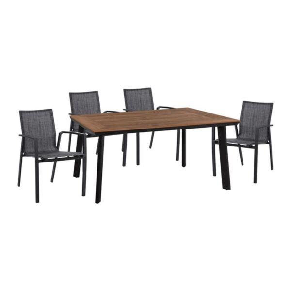 Алуминиев комплект маса и кресла в сив цвят
