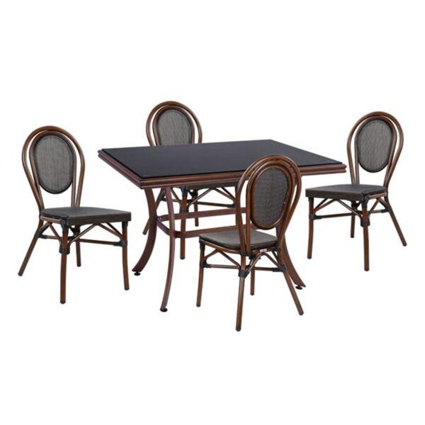 Комплект алуалуминиеви столове с маса Bamboo