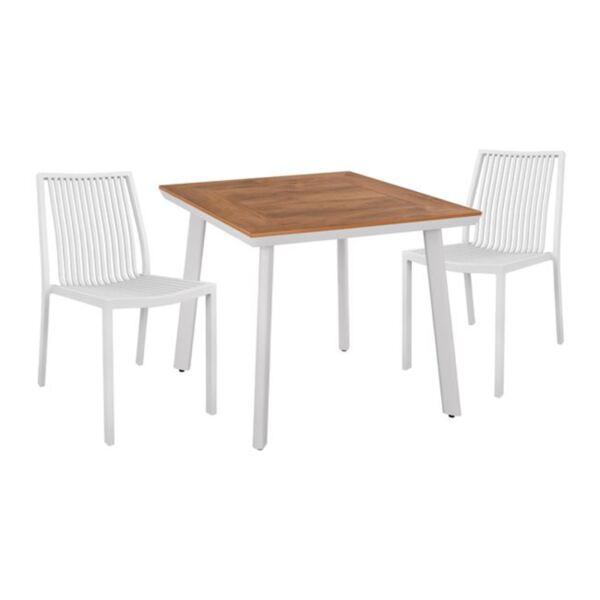 Комплект Маса и Столове с бял цвят