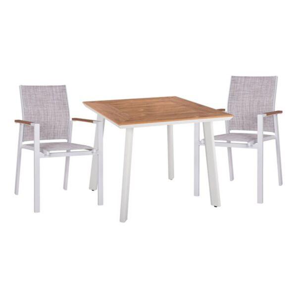 Комплект Маса и кресла с бял цвят