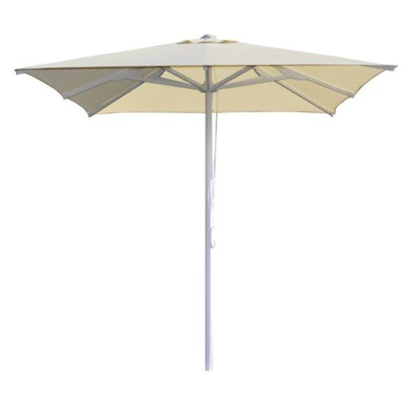 Плажен чадър ALU цвят крем  квадрат 2,2/2,2м