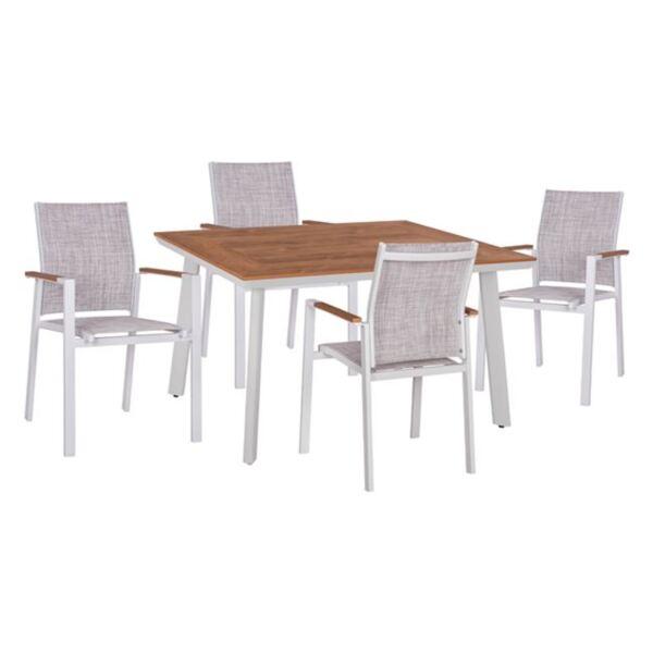 Комплект маса и фотьойли Милър бял цвят