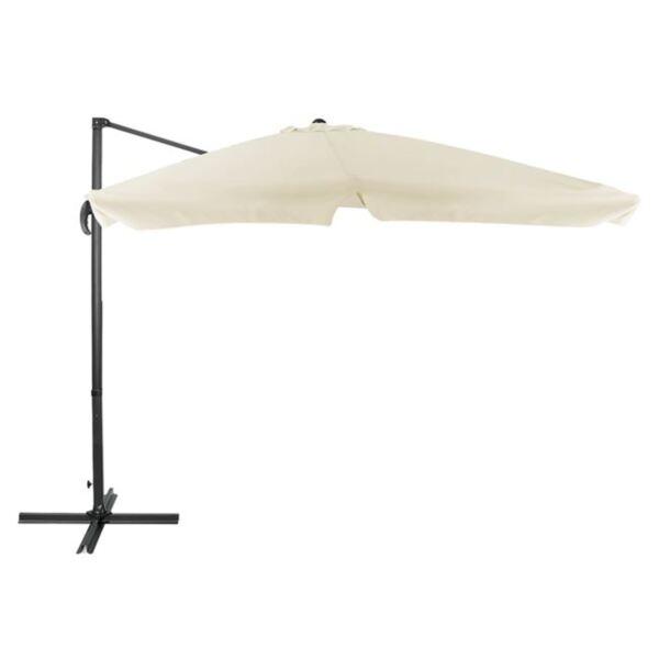 плажен чадър Alu със сив плат