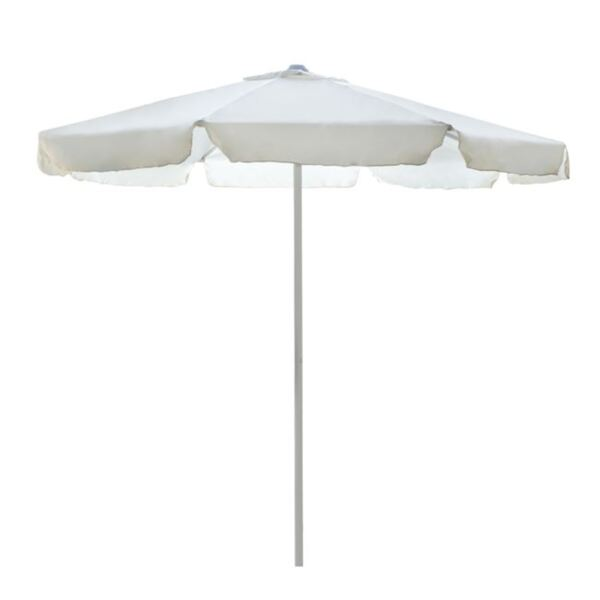 Плажен чадър М в цвят крем/ф2,35м