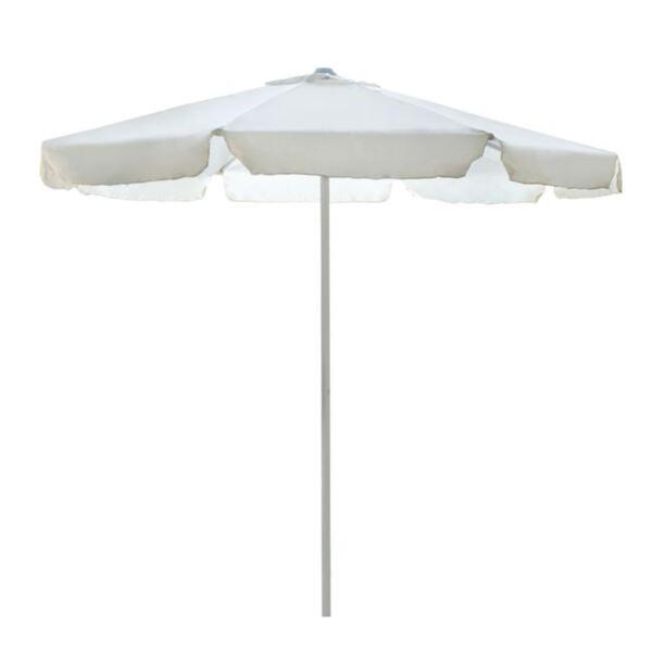 Плажен чадър М в цвят крем