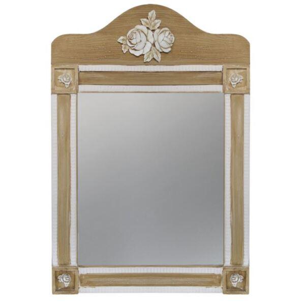 Огледало Melody цвят крем / кафяв