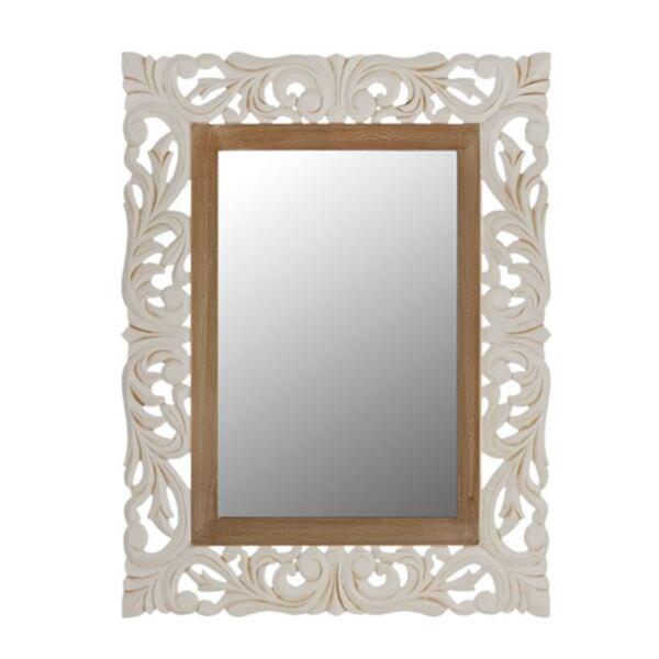 Огледало Приамо цвят крем / кафяв