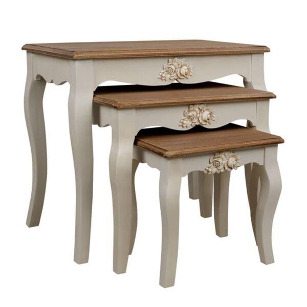 Дървена холна маса Melody цвят крем / кафяв