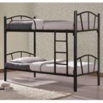 Метално двуетажно легло в черен цвят