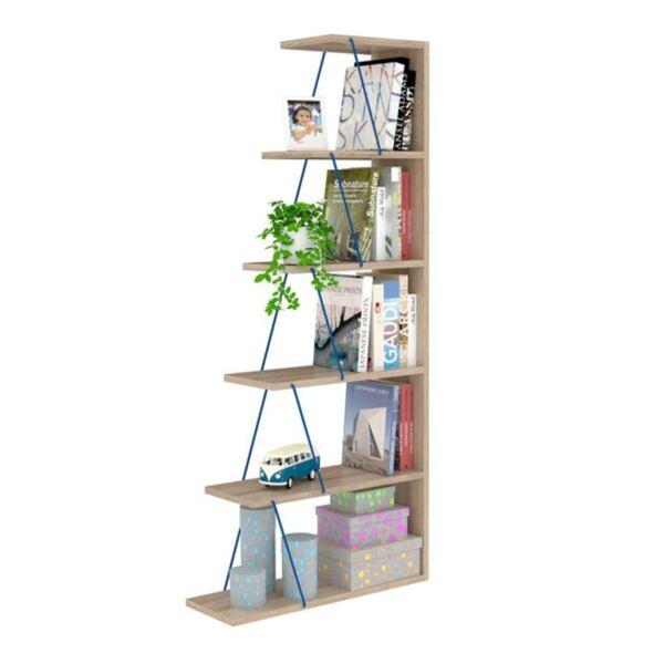 Библиотека Mini Тарс в цвят сонама / синьо
