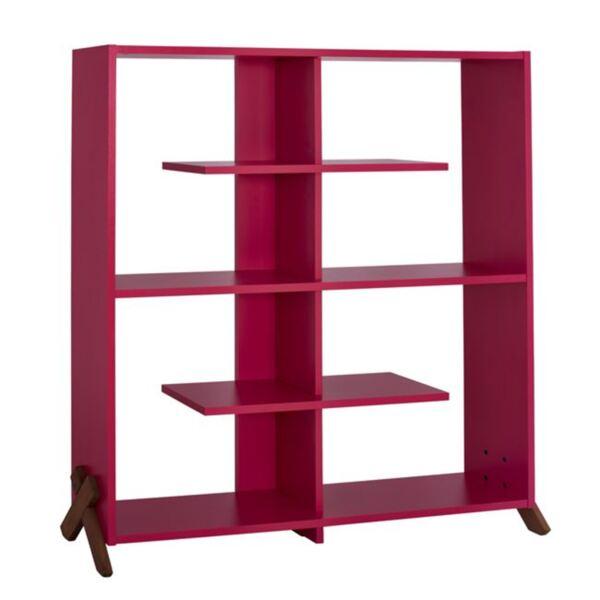 Библиотека Кип в розов / цвят Орех