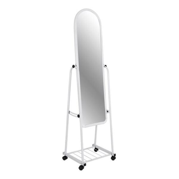 Метално огледало в бял цвят