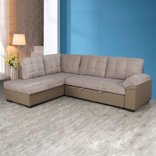 Разтегателен диван Jade в бежов цвят