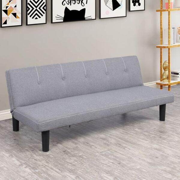 разтегателен диван Итън в сив цвят