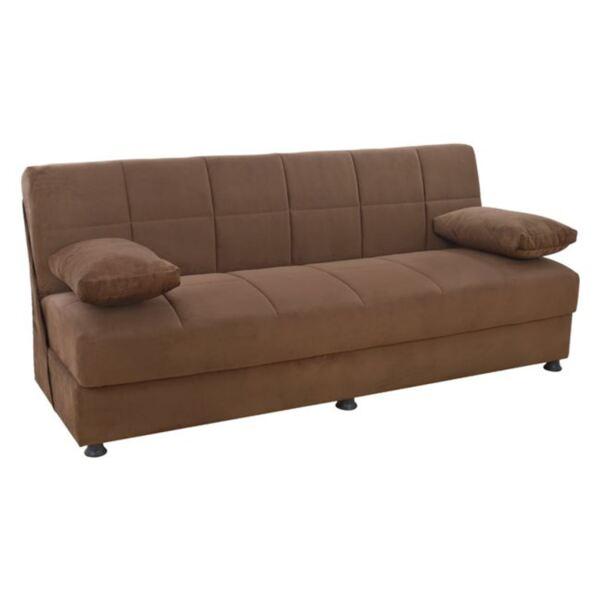 Триместен диван Ege в кафяво