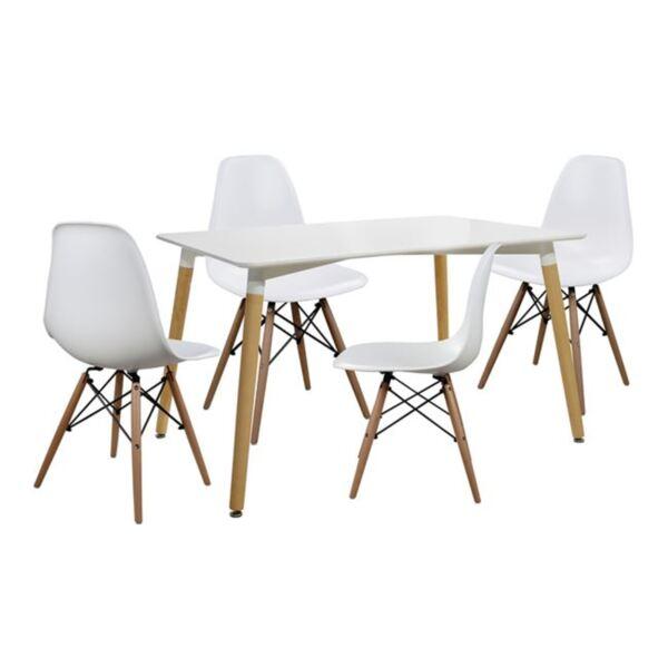 Комплект за хранене - Маса и столове Twist Бял
