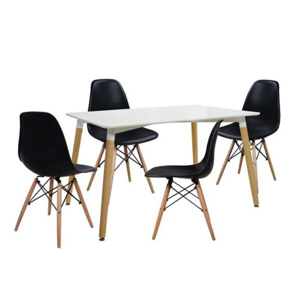 Комплект за хранене - Маса и столове Twist Черно