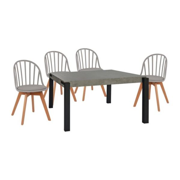 Комплект маса със столове МДФ Алина
