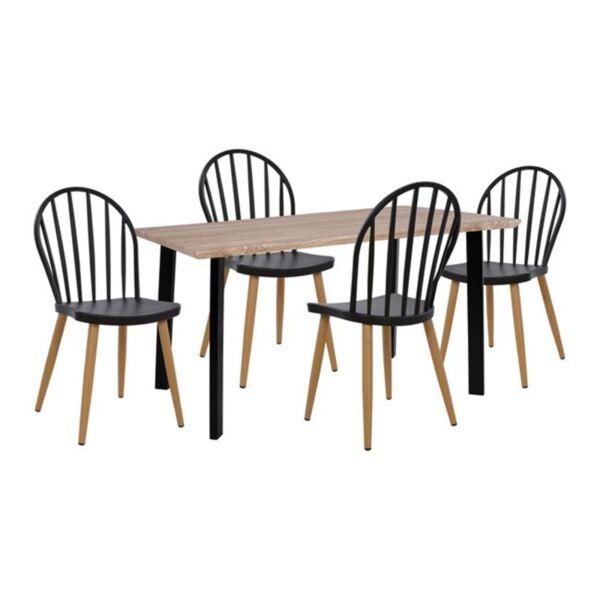 Комплект с черни  столове