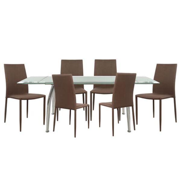 Комплект за хранене - Маса Roca и столовеTeta в кафяво