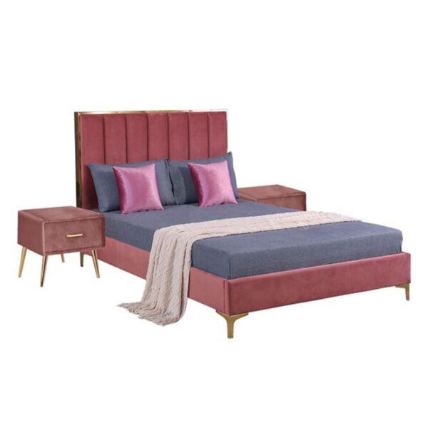 Спален комплект розово кадифе