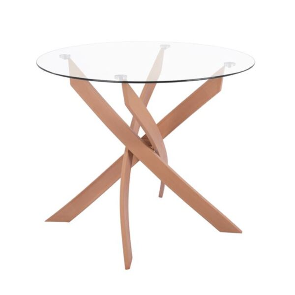 Кухненска Метална маса със стъкло
