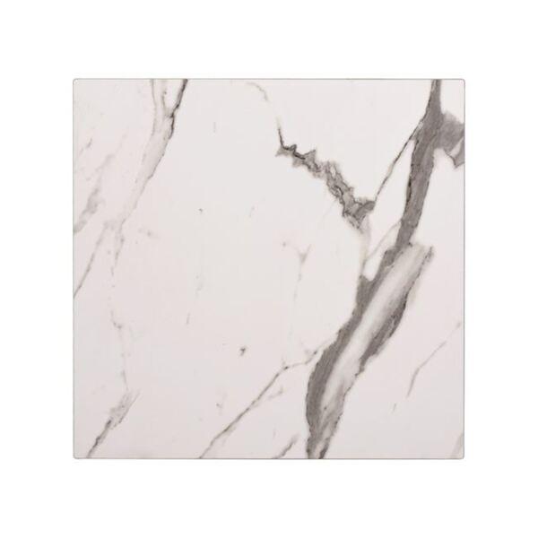 Плот за маса HPL бял мрамор