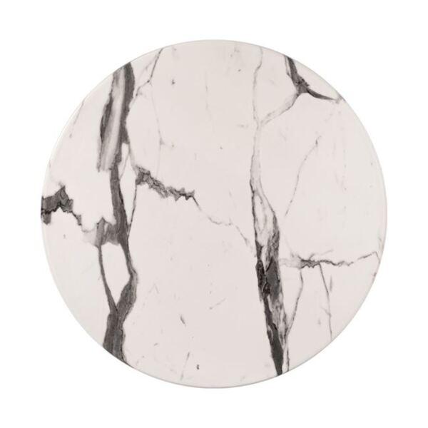 Верзалитов плот за маса - мрамор сивобял