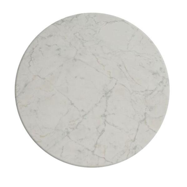 Верзалитов плот за маса - мрамор бял цвят ф70см