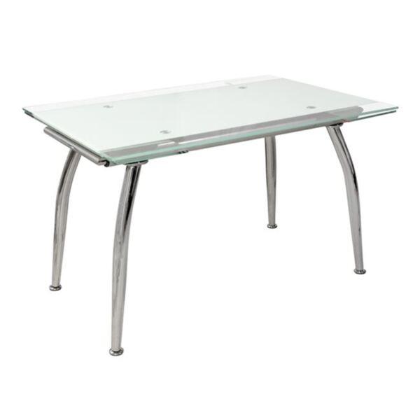 Трапезна маса Rosa бяло стъкло
