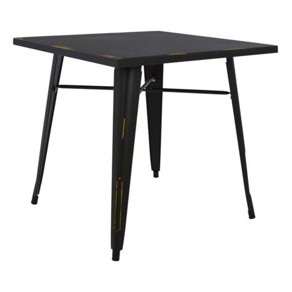 Трапезна метална маса в черен цвят