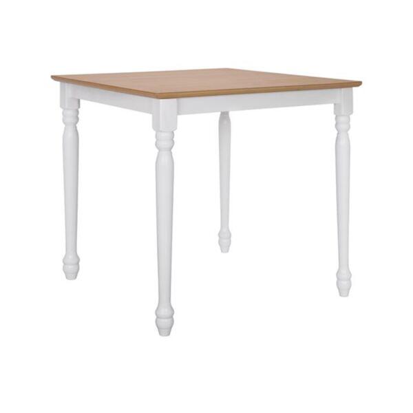 """Трапезна маса цвят дърво"""" бели крака"""""""