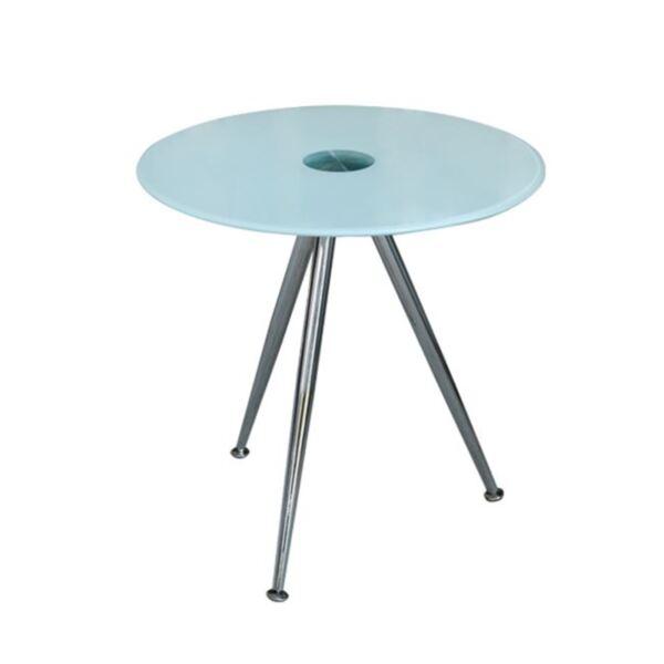 Стъклена трапезна маса с бял цвят