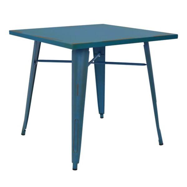 Трапезна метална маса в син цвят