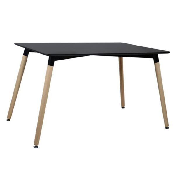 Трапезна маса черна с крака от дъб