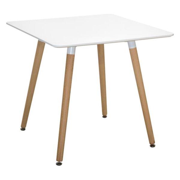Трапезна Бяла маса с крака от дъб