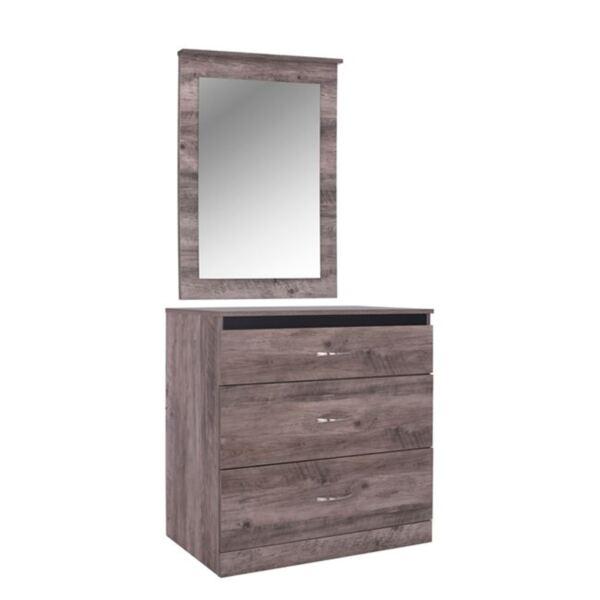 Комплект  JACINTHA с огледало в пепелив цвят