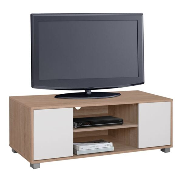 TV шкаф цвят сонама/бяло